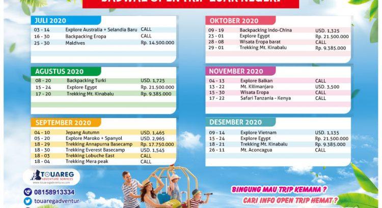 jadwal open trip